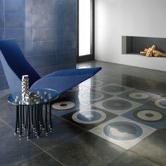 Fioranese | Steelwork #fioranese #ceramicafioranese #madeinitaly #ceramics #gresporcellanato #porcelaintile #covering #wall #floor #tiles #blue #grey #black #decors #design #metals #moderntiles #ecology #living