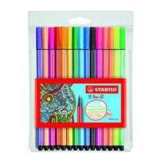 Stabilo Point 68, Stabilo Pen, Graffiti Pens, Acrylic Paint Pens, Cute School Supplies, Calligraphy Pens, Too Cool For School, Pen Art, Permanent Marker