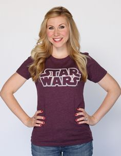 Star Wars Outline Burnout Tee - Her Universe ShopLove this! Star Wars for girls that actually fit right!