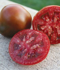 Tomato, Black Truffle Hybrid  A sweet, strong, complex flavored tomato that is hard to beat.