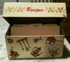 Vintage Metal Recipe Box To find a metal recipe box