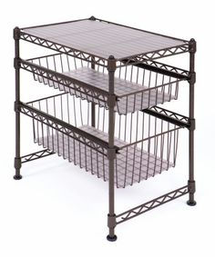 Seville Classics SHE05122 11-1/2-Inch by 17-1/2-Inch by 18-1/2-Inch Stackable Kitchen Cabinet Organizer - http://www.homeandofficeproducts.com/seville-classics-she05122-11-12-inch-by-17-12-inch-by-18-12-inch-stackable-kitchen-cabinet-organizer/
