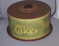 "Vintage Kitchen Maid Brand Tin Cake Cover & Tray ""Since 1803"" got the one too!"