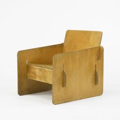Reminds me of the FLW furniture in some of his Usonians  This anonymous, Birch Plywood Puzzle Chair is amazing. (apparently c1955)