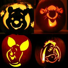 Eeyore and tigger art craft and diy pinterest for Winnie the pooh pumpkin carving templates