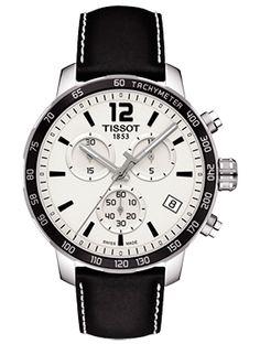 Boutique dos Relógios | Produtos | Relógios | Tissot | Tissot Quickster Chrono White/Black Leat