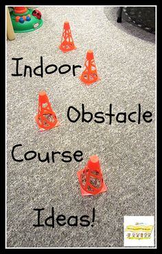 While this blog suggests everyday items to use for and indoor obstacle course we have plenty of items you could use at the Toy Library - stepping stones, pop out tunnels, slides, balance beams and much more.  Indoor Obstacle Course Ideas for All Ages! HowToRunAHomeDaycare.com