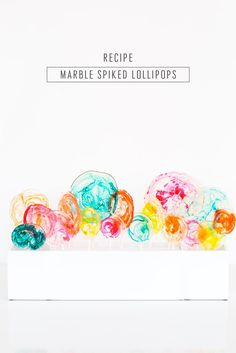DIY Marble Spiked Lollipops are a fun grown-up candy for your next party! Make our recipe from scratch or try the easy variation for a candy treat that your guests will love! Lollipop Recipe, Lollipop Cake, Heart Cupcakes, Pink Cupcakes, Fondant Cupcake Toppers, Cupcake Cakes, Rose Cupcake, Cupcake Wine, Party Food Catering