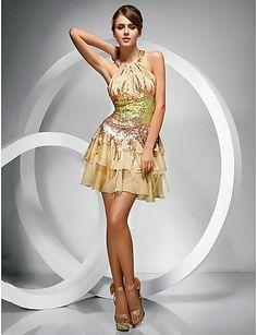 5b82023042ad Magníficos vestidos cortos de fiesta económicos