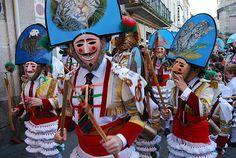 cigarrones de Verín en carnavales, galicia (Spain)