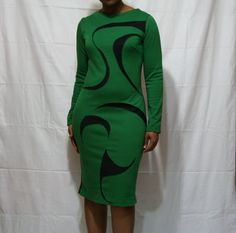 Color blocked Double Knit cut out fitted column dress by Beauje, $115.00
