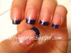 silver nails purple dress - Google Search