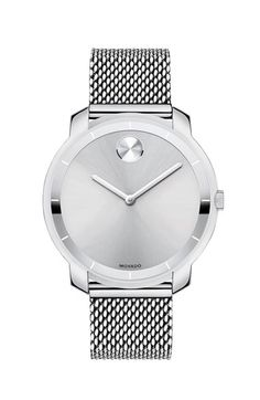 Free shipping and returns on Movado 'Bold' Mesh Strap Watch, 36mm at Nordstrom.com. A signature Museum dot and subtle minute track detail the beautiful sun-ray dial of this stainless-steel watch set on a smooth mesh strap.