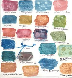 Water color textures. I am going to use this to teach surface treatment rather than watercolor specific.