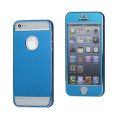 Titanium Ultra-thin case - Babyblue voor iPhone 5/5S #covermaniabe #iphonehoesje #iphonecover www.cover-mania.be