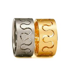 Niessing - Gold Meander Wedding Rings - ORRO Jewellery Glasgow