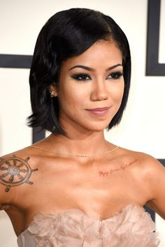 Jhene-Aiko-2015-Grammy-Awards-makeup-hair.jpg (640×960)
