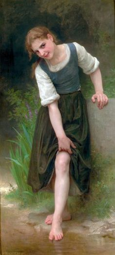 The Ford- William Adolphe Bouguereau (1825 – 1905, French)