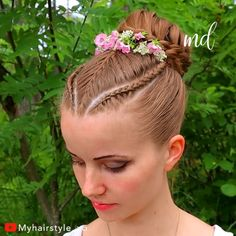 Such an adorable updo, perfect for long hair! By: Such an adorable updo, perfect for long hair! Kids Updo Hairstyles, Braided Bun Hairstyles, Hairstyle For Kids, Female Hairstyles, Hairstyle Men, Style Hairstyle, Hairstyles 2018, Medium Hairstyles, Girls Braids
