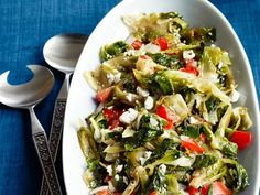 Stewed Escarole with Feta: This unusual Greek-inspired side dish is surprisingly simple to prepare.