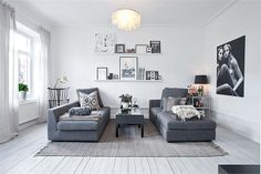 minimal layout    COZY APARTMENT IN WHITE, BLACK AND GREY | Lili Halo Decoration