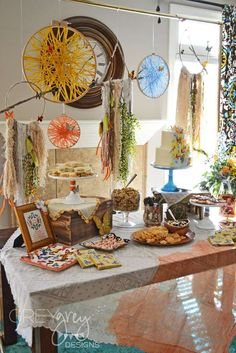 Tribal boho baby shower party! See more party planning ideas at CatchMyParty.com!