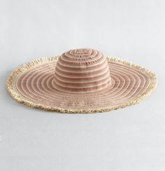 Ribbon Stripe Beach Hat