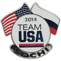 USA 2014 Winter Olympics Sochi Team USA Dual Flags Pin