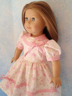 1940s Frock for Molly or Emily American Girl Doll by izzadorabelle