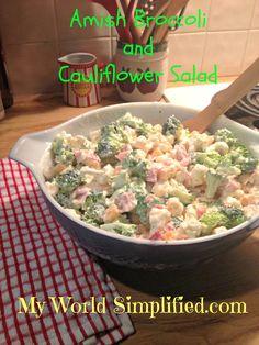Amish Broccoli and Cauliflower Salad