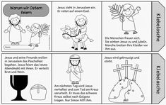 Ideenreise: Warum wir Ostern feiern (Leporello) - Source by Bible Story Crafts, Bible Stories, Coloring Pages For Grown Ups, Coloring Pages For Kids, Why We Celebrate Easter, Kindergarten Portfolio, Easter Story, Religious Education, Sunday School Crafts