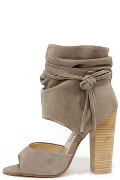 68b8dc96a009 Chinese Laundry Leigh Grey Kid Suede Booties. Shoes Heels ...