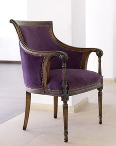 PURPLE ARMCHAIRS The color of majesty, ambition, power and luxury, purple is a fabulous color for amrchairs! #colorpurple #purpledesign #purplearmchair