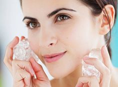 Rejuvenece tu rostro con la terapia del hielo | Mujer Chic