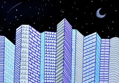 With a game of parallel lines we built our cities at night, with tall buildings that stand out on a starry sky. A simple exercise for the 6th grade classes, with which we have experienced how easy ...