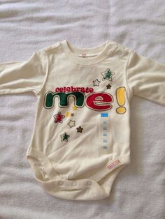 NWT Children's Place baby boy 0-3 months one piece infant bodysuit celebrate me #ChildrensPlace #Everyday