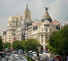 Downtown Madrid, Spain November, 2012