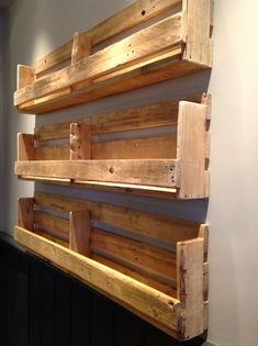 Love these shelves (used for bar menus at a pub in Moseley) Diy Pallet Projects bar Love menus Moseley pub Shelves Wooden Pallet Projects, Wooden Pallet Furniture, Pallet Crafts, Woodworking Projects Diy, Outdoor Furniture, Wooden Pallets, Diy Pallet Bar, Diy Pallet Vanity, Pallet Counter