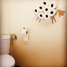 Sheep-shelf - a toilet paper storage for a large number of rolls.  This shelf allows you to place in an easy and joyful way an entire package of toilet paper (7-10) on a wall, freeing up some precious square feet. The kit consists of: 1) Shelf made of a transparent flexible plastic - an arc which hangs on two hooks which face each other, the distance between the holes for mounting will be shortest -34 cm (the distance is recommended, but may be less) Shelf depth is - 10 cm.  2) Head and two…