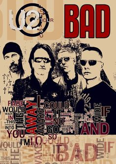 Music Poster fine art print  U2 rock band wall decor  by Artistico, $28.00  NEED!!!!
