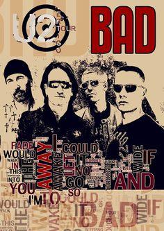 Music Poster fine art print U2 rock band wall decor by Artistico, $28.00