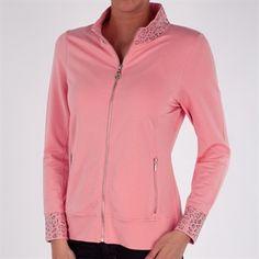 Christine Alexander Leopard Trim Zip Jacket #VonMaur #ChristineAlexander #Jacket #LeopardPrint