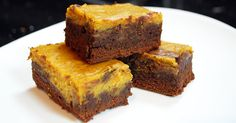 Chocolate and Pumpkin Marbled Brownies