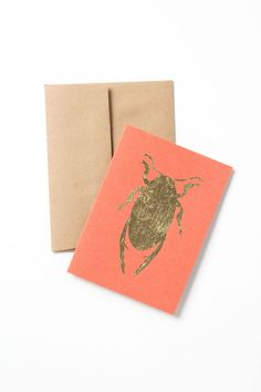 Gilded Insect Card - Anthropologie.com