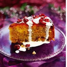 Orange and cranberry torte... This is a deliciously moist torte recipe, which you can make the day before to enjoy the full ... flavour of the spicy syrup... Serves 10... Takes 20 minutes to make, 50 minutes-1 hour to cook, plus cooling...