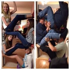 Daughter & her friends challenged father & his...