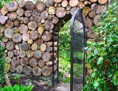 Woodpile Gate at Sakonnet Garden in Little Compton, Rhode Island