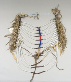 Bead, bone Brooklyn Museum, Bequest of W. Morton Mead, Creative Commons-BY Native American Regalia, Native American Men, Native American Artifacts, Blackfoot Indian, Native Indian, Indigenous Art, Chocker, Beading Tutorials, Men Necklace