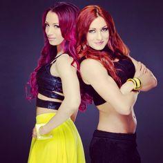 Sasha Banks and Becky Lynch