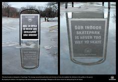 CPH Skatepark, Copenhagen.   10 Goddamn Excellent Unconventional Ads